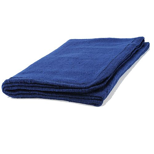 Navy Fleece Blanket 38 X 29