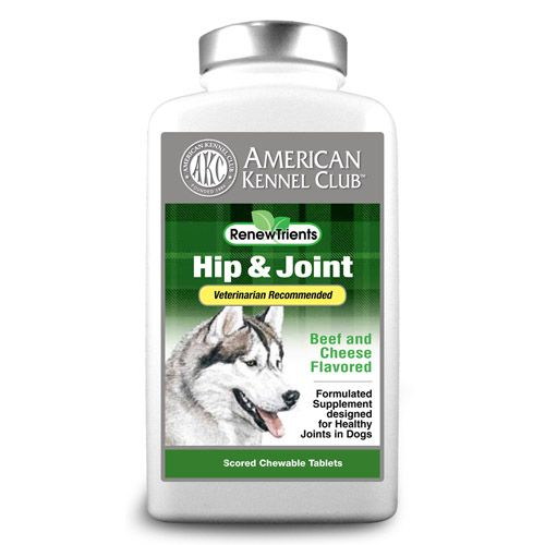 AKC Hip & Joint 100 Tablets Cheeseburger/Beef