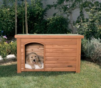 Outback Log Cabin Dog House 45.5x26.5x27.5 Cedar