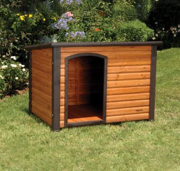 Extreme Outback Log Cabin Dog House 45.5x26.5x27.5
