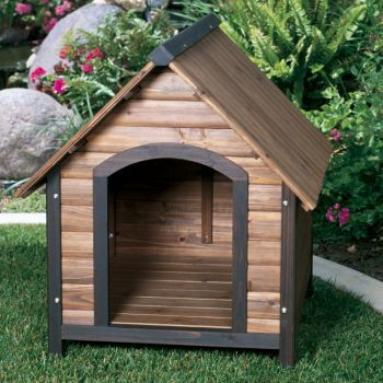 Outback Country Lodge Dog House 30x35x32 Walnut