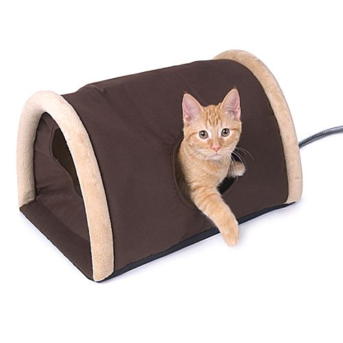 Outdoor Heated Cat Camper with Heated Pad
