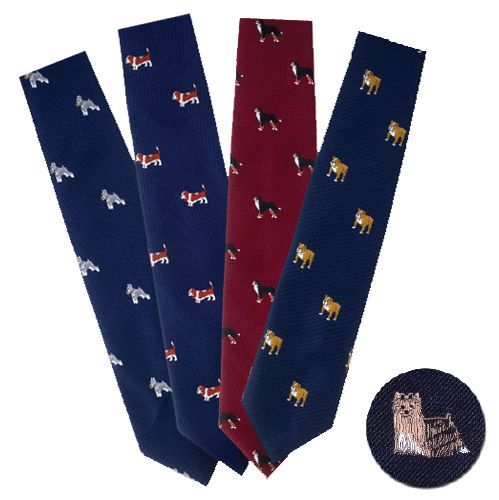 Dog Breed Necktie Black Labrador