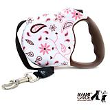 Avant Garde Retractable Leash Floral