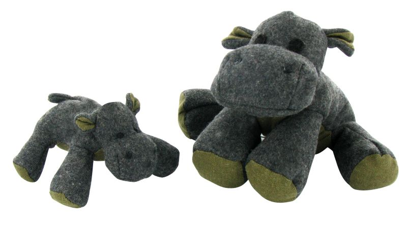 Booda Eco-Friendly Plush Dog Toy Large Hippo