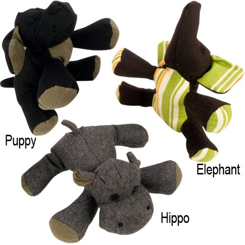 Booda Eco-Friendly Plush Dog Toy Small Elephant