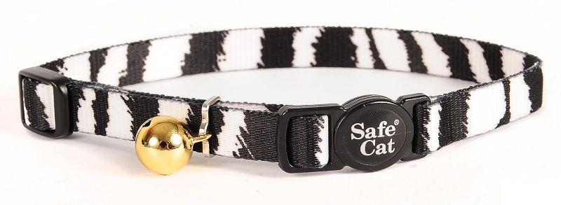 Safe Cat Breakaway Collar Zebra
