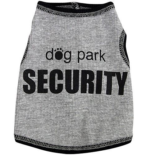 Dog Park Security Dog Tank Top Large