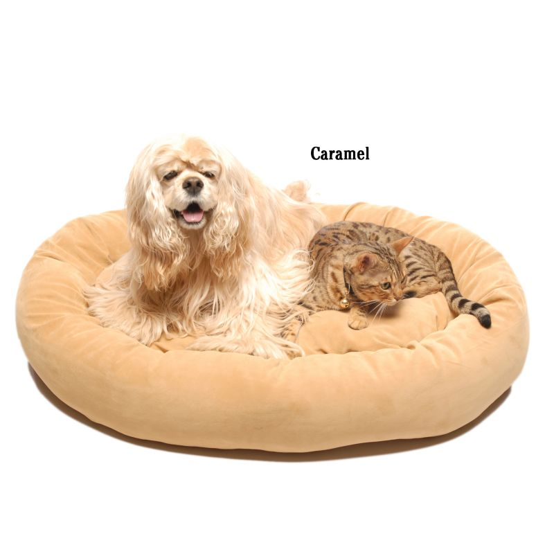 Bagel Dog Bed 22In Brown