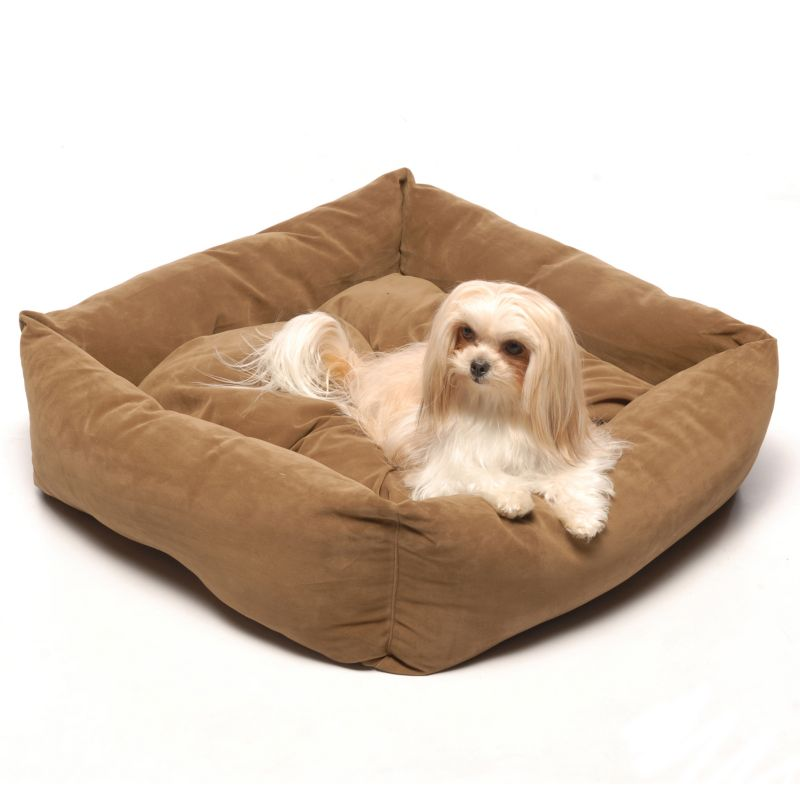 Microfiber Square Dog Bed 28In Moss