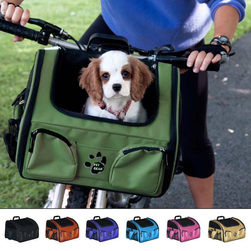 Pet Bike Basket Copper