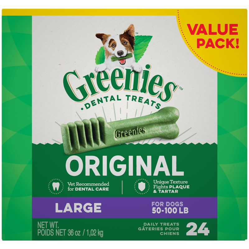 Greenies Dog Dental Chew Treats Large 18oz 12ct