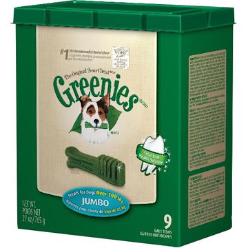 Greenies Dog Dental Chew Treats Jumbo 12oz 4ct