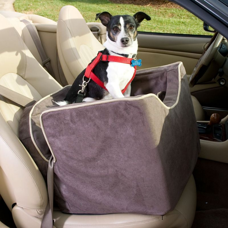 Luxury Lookout 1 Pet Car Seat Medium Saddle Best Price