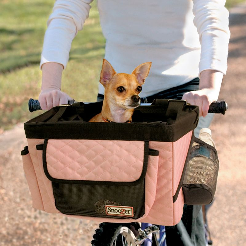 Bicycle Pet Basket Pink/Grey