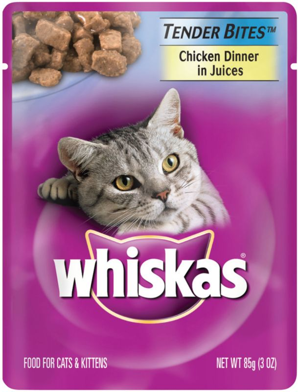 Whiskas Tender Bites Cat Food 24Pk Ocean Fish Tuna Best Price