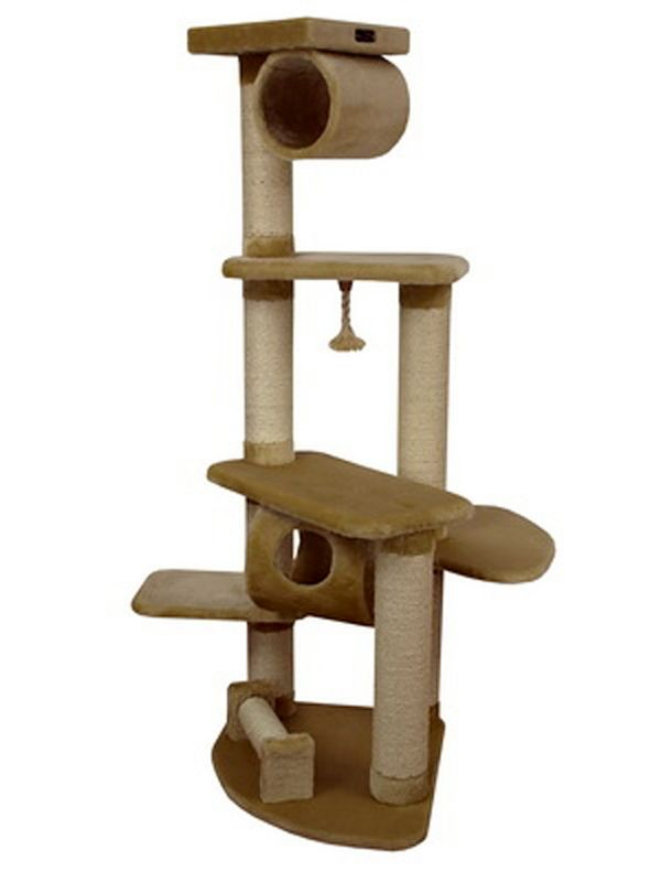 63 Inch Cat Tower with Sisal Posts