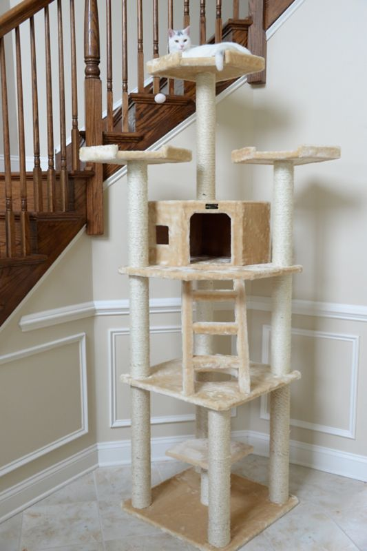 80 Inch Deluxe Cat Tower with Ladder