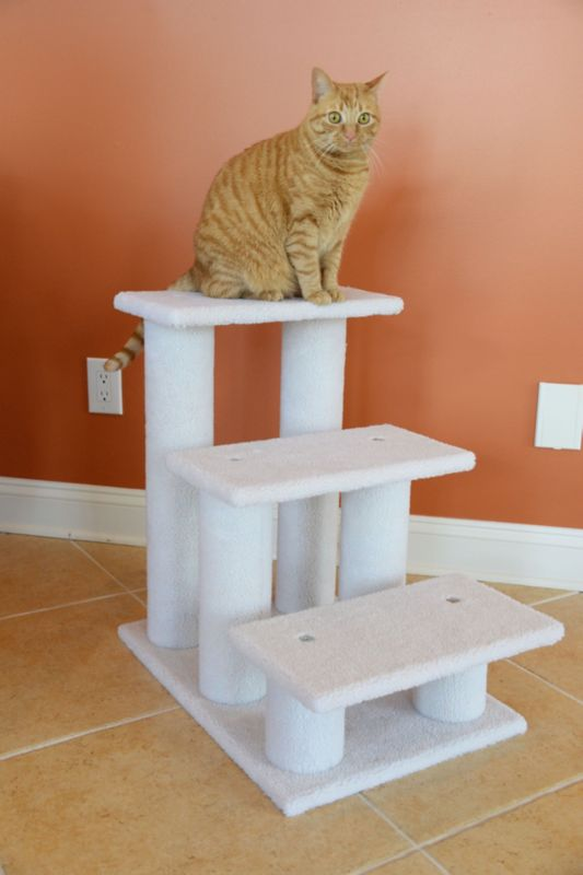 3 Step Fleece Pet Steps