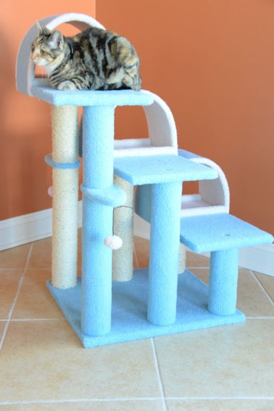 38 Inch Stepped Cat Tower