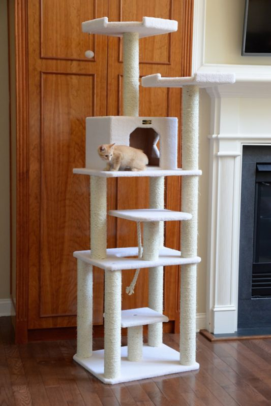 78 Inch Deluxe Cat Tower with Rope