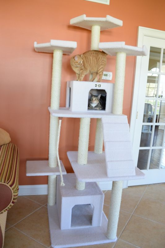 82 Inch Deluxe Cat Tree with Ramp