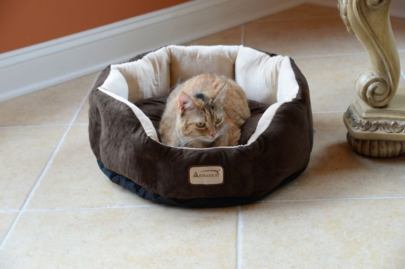 Armarkat Faux Suede Octagon Pet Bed