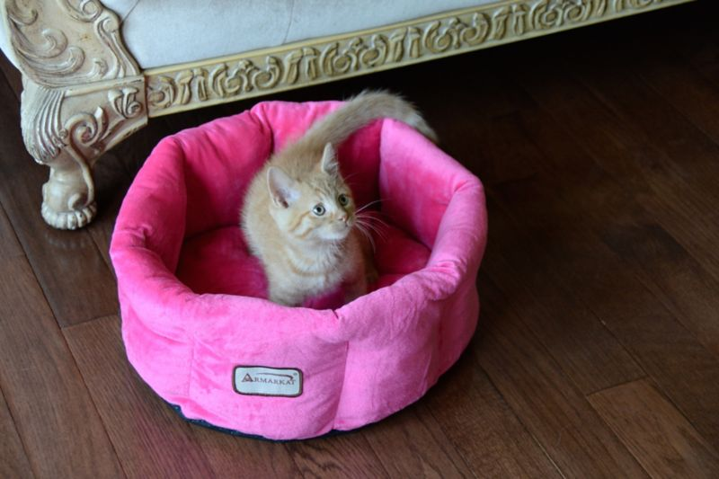 Armarkat Pink Velvet Pet Bed            nch
