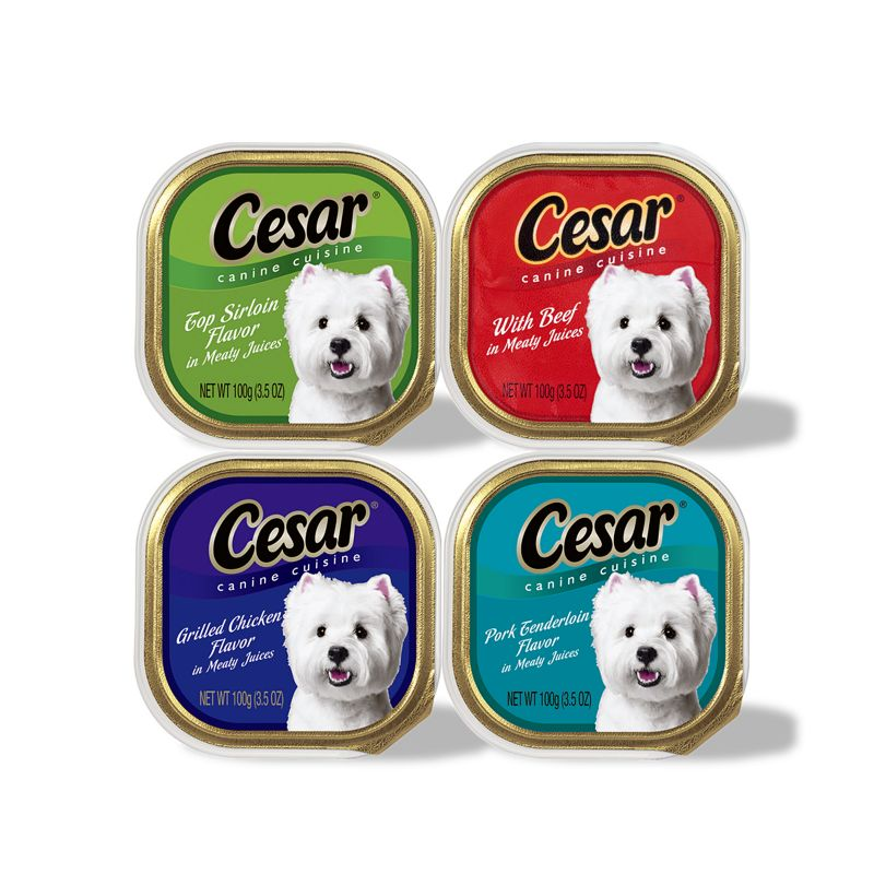 Cesar Canine Cuisine Can Dog Food Case Chick/ Beef Best Price