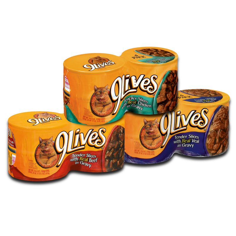 9 Lives Sliced Canned Cat Food Case Beef Best Price