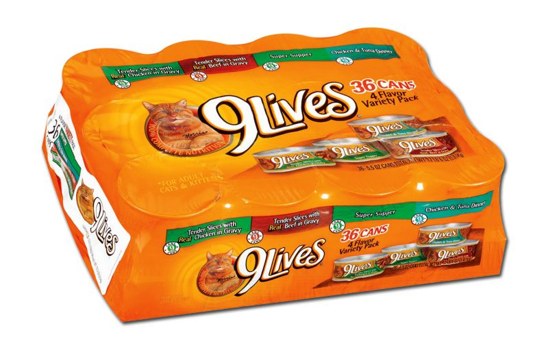 9 Lives Four Flavor Variety Canned Cat Food Case Best Price