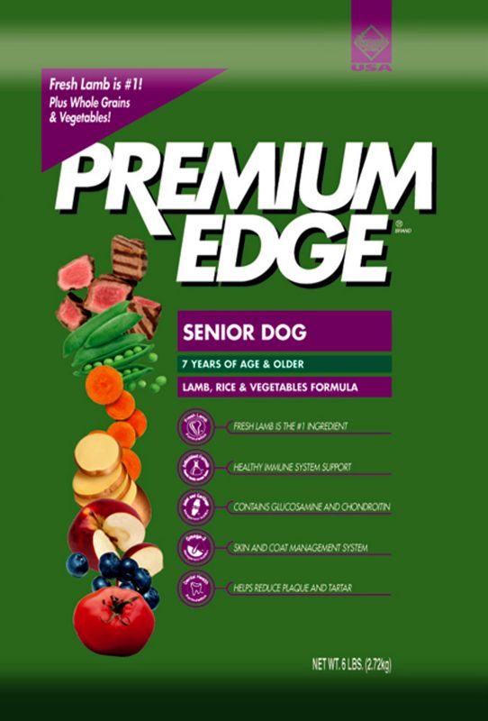 Premium Edge Lamb Senior Dry Dog Food 18lb