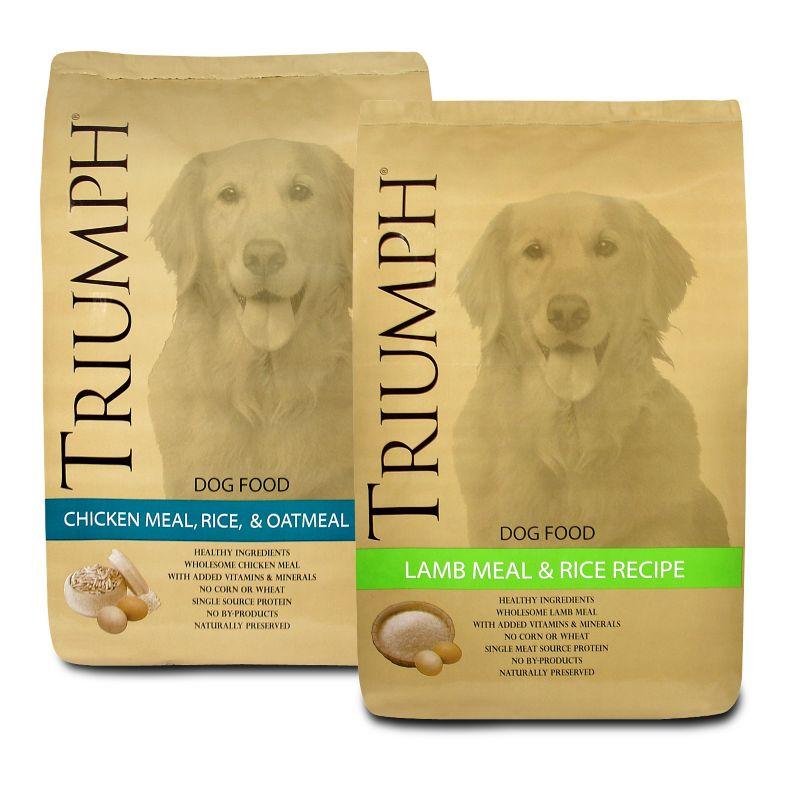 Triumph Adult Dog Dry Dog Food 20lb Ck/Rice/Oat