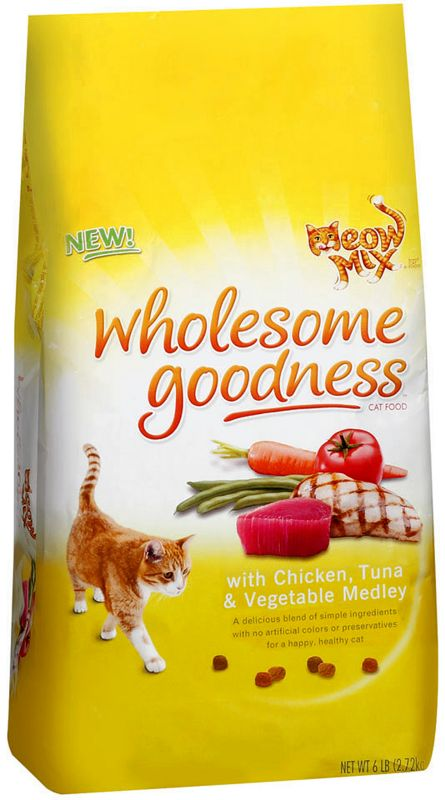 Meow Mix Wholesome Goodness Dry Cat Food 3lb Best Price