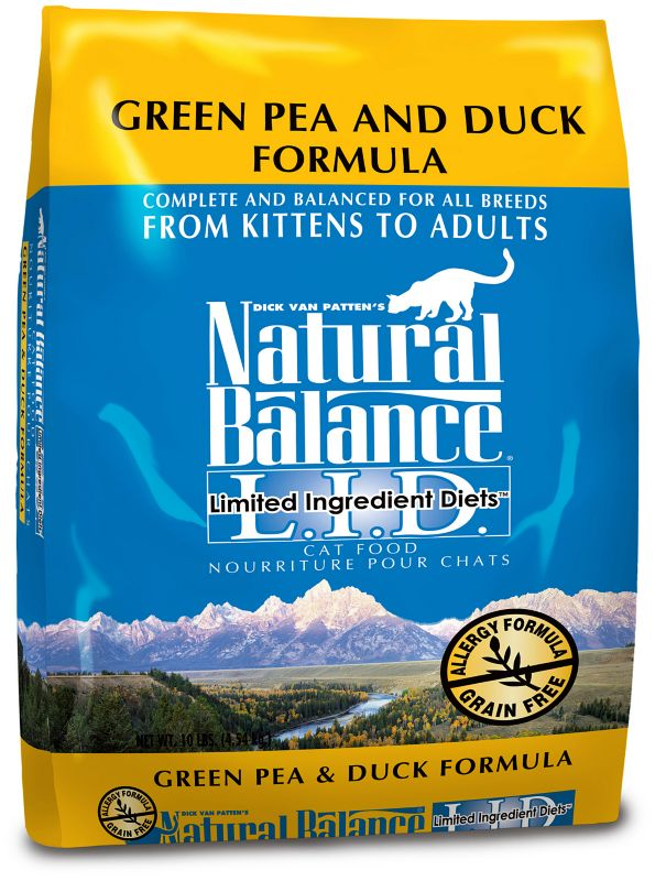 natural balance lid duck dry cat food 10lb on lovemypets.com
