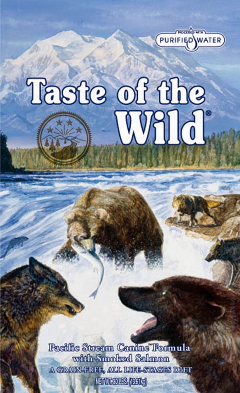 Taste of the Wild Pacific Stream Canine Dry Dog Food Years of domestication have turned your pets from fierce predator to best friends. However, mode