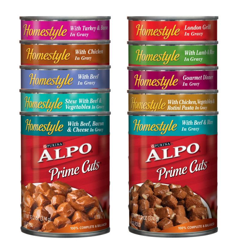 Alpo Prime Cuts Can Dog Food Case Turkey