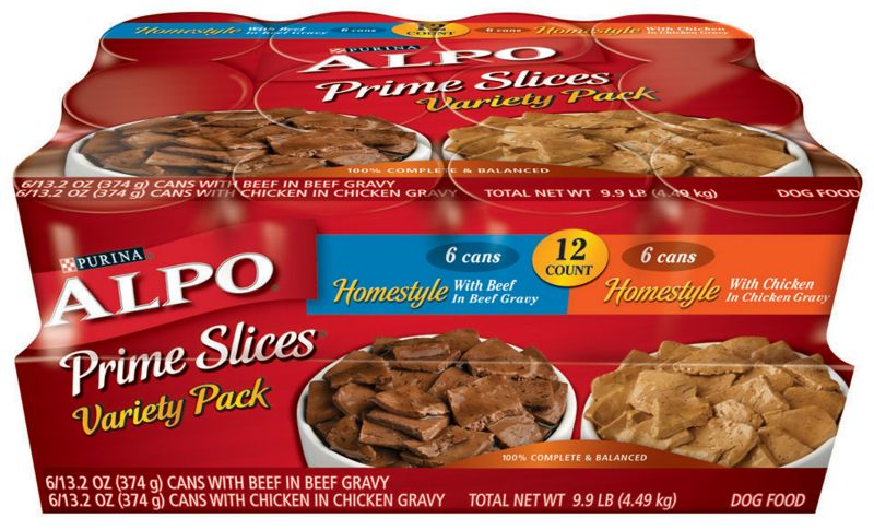 Alpo Prime Slices Variety Can Dog Food Case