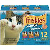 Friskies Seafood Favorites Pouched Cat Food Case