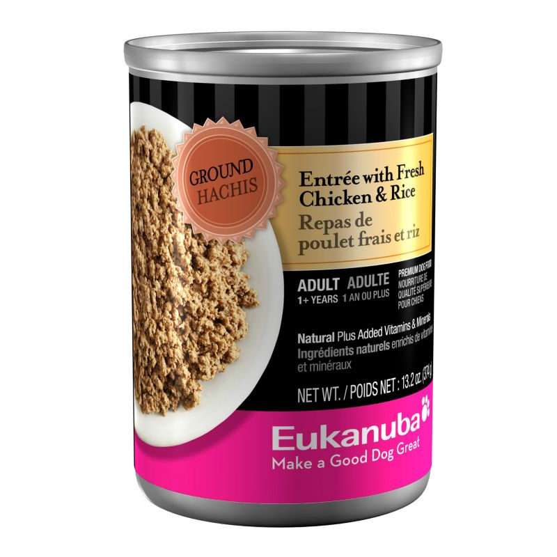 Eukanuba Ground Entree Can Dog Food Chicken