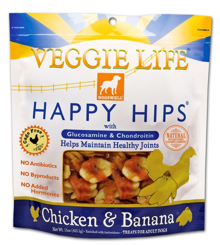 Veggie Life Happy Hips Dog Treat Chicken/Banana Best Price