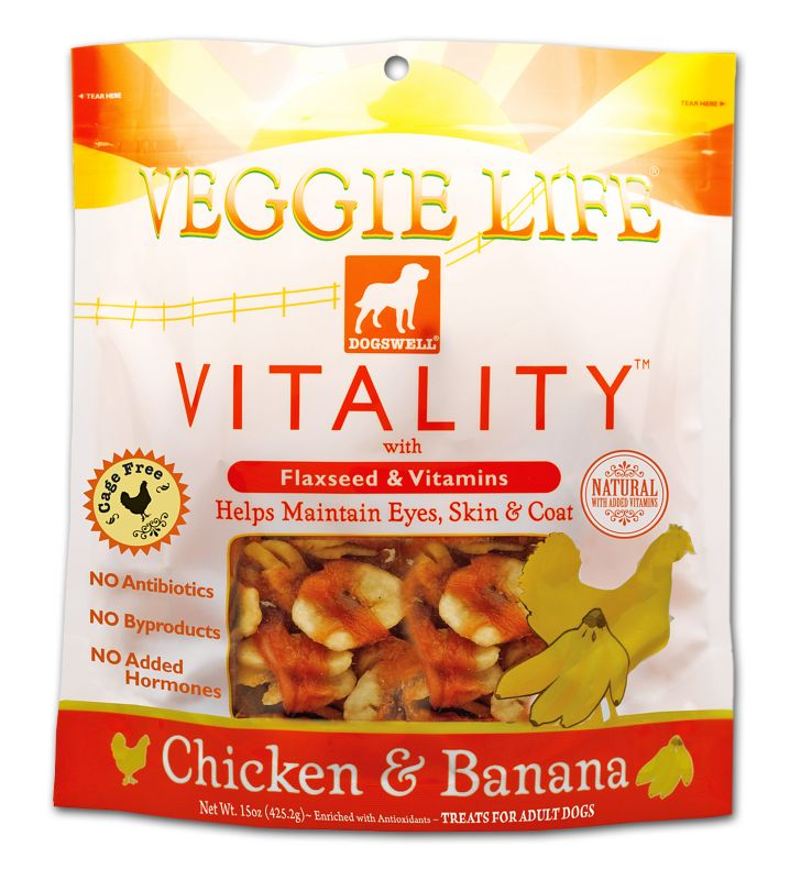 Veggie Life Vitality Dog Treat Chicken/Banana Best Price