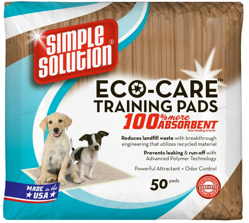 Simple Solution Eco Care Puppy Training Pads 50pk Best Price