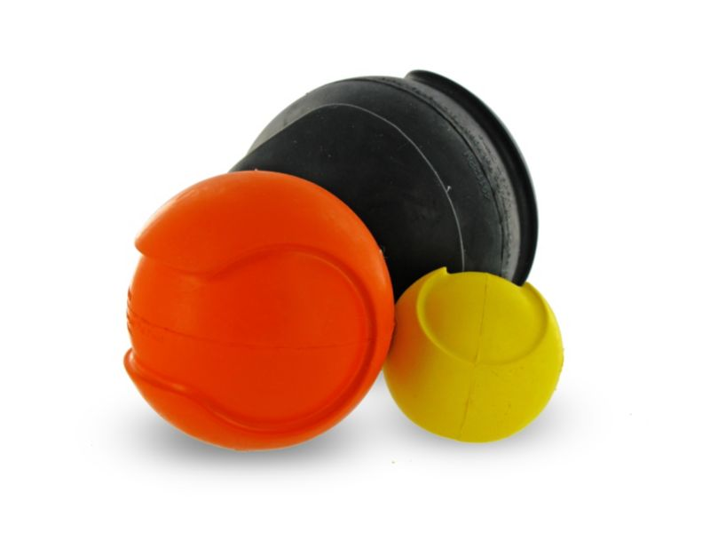 iSqueak Bouncin Baseball Dog Toy Medium