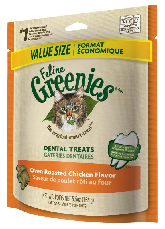 Feline Greenies Dental Treat 5.5oz Salmon