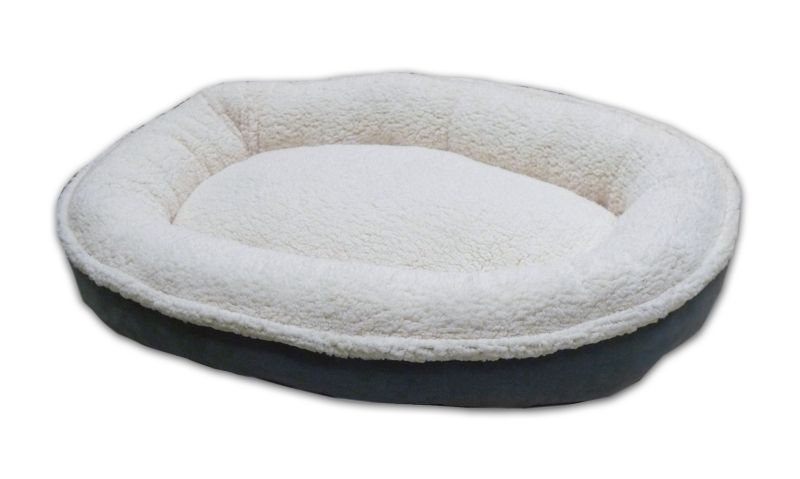 Sherpa/Suede Comfy Cup Dog Bed Medium Chocolate