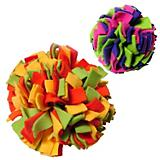Fleecy Clean Ball Dog Toy