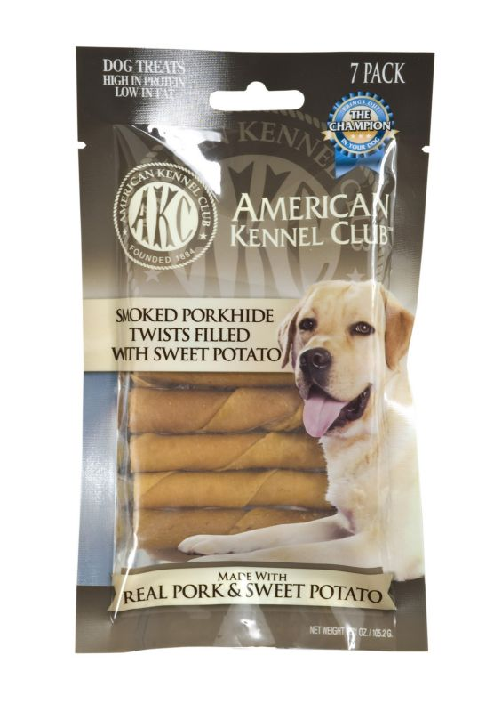 AKC Smoked Porkhide with Sweet Potato Dog Treat