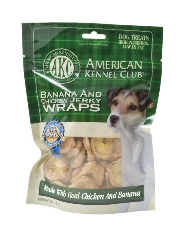 AKC Banana Chicken Jerky Wraps Dog Treat