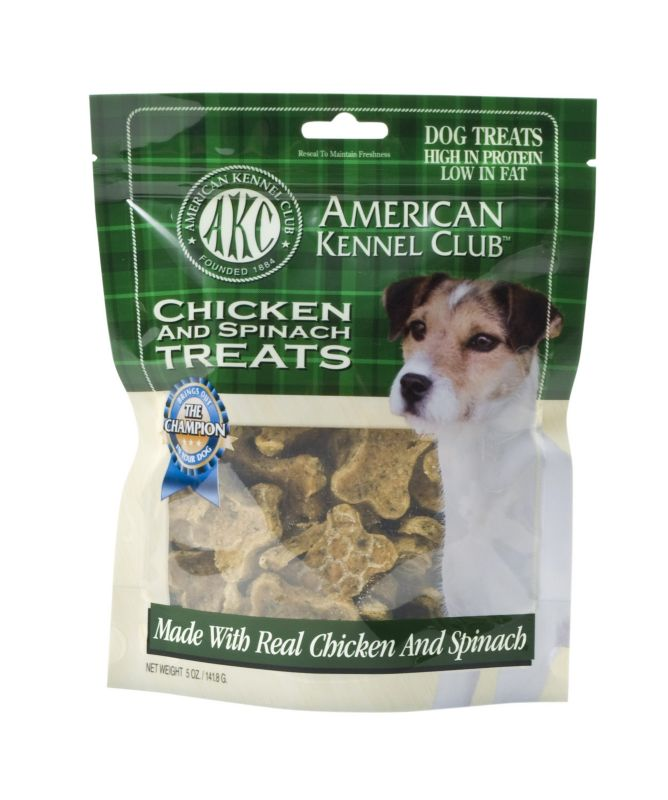AKC Chicken and Spinach Dog Treat Dog Treats Best Price